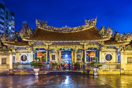 Longshan Temple in Taipei, Taiwan. Editorial