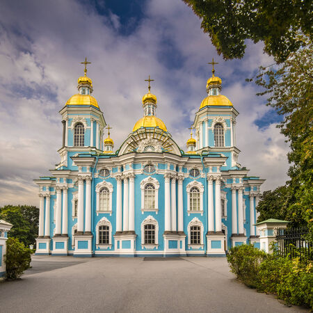 st nicholas cathedral: St. Nicholas Naval Cathedral in St. Petersburg, Russia.