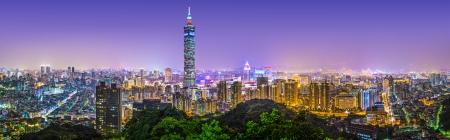 Taipei, Taiwan skyline panorama.