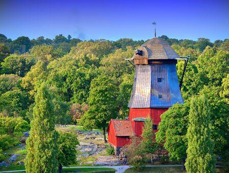 Old farm house in Helsinki, Finland.