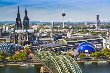 Skyline of Cologne, Germany.