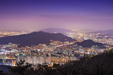 high rises: High rises and mountains in Busan, South Korea.