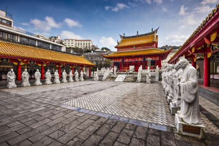 chinese courtyard: Cofucius Shrine in Nagasaki, Japan.