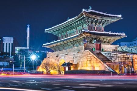 korean: Seoul, South Korea at Namdaemun Gate.