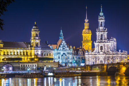 Dresden, Germany above the Elbe River. photo