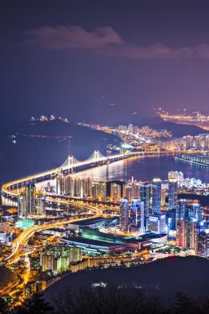 south korea: Busan, South Korea skyline.
