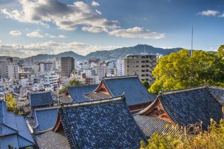 nagasaki: Temple rooftops in Nagasaki, Japan.
