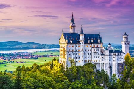 neuschwanstein: Neuschwanstein Castle in Germany. Editorial