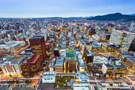 sapporo: Sapporo, Japan cityscape at the Central Ward.