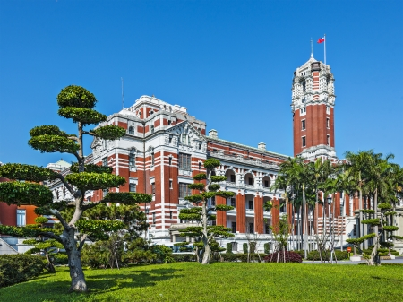presidential: Presidential Office Building in Taipei, Taiwan.
