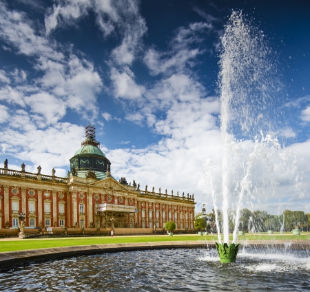 neues: The New Palace Neues Palais in Potsdam, Germany.