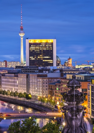 Cityscape of Berlin, Germany. photo