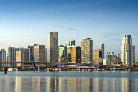 floridian: Skyline of Miami, Florida, USA. Stock Photo