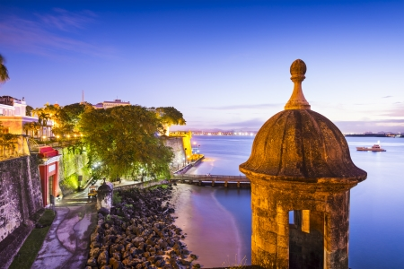 San Juan, Puerto Rico coast at Paseo de la Princesa. Stock Photo - 25134594