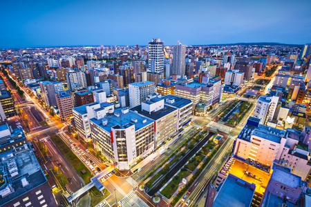 sapporo: Sapporo, Japan cityscape in the central ward. Stock Photo
