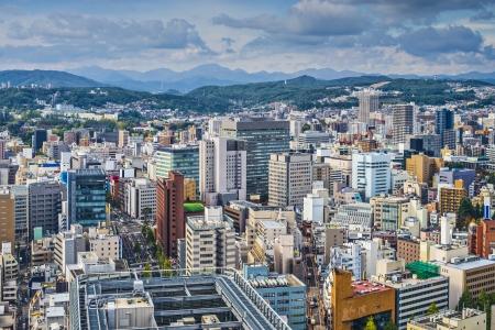 Sendai, Japan cityscape Фото со стока