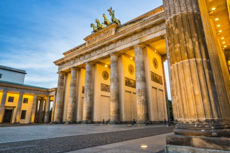 Brandenburg Gate in Berlin, Germany.