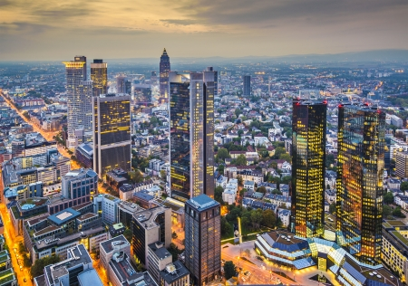 Frankfurt, Duitsland luchtfoto Stockfoto