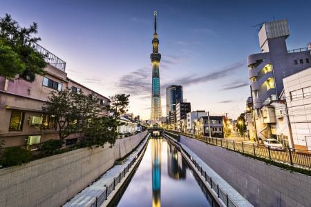 tokyo japan: Tokyo, Japan Sumida Ward cityscape. Stock Photo