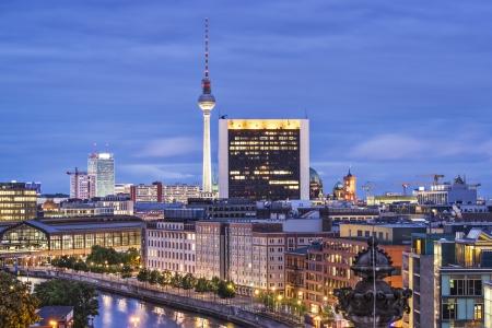 Cityscape of Berlin, Germany. Imagens