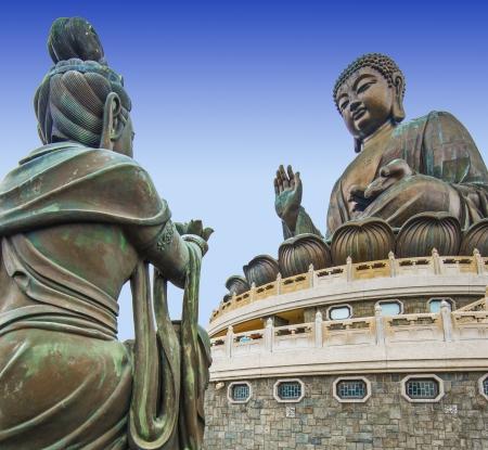 lantau: Big Buddha di Lantau Island a Hong Kong, Cina. Archivio Fotografico