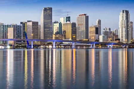 Skyline of Miami, Florida, USA. photo