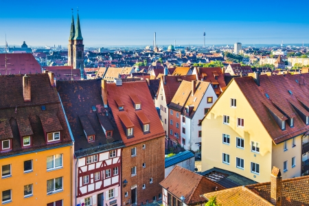 Skyline der Altstadt Nürnberg, Deutschland