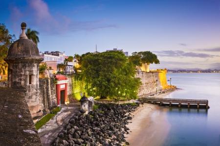 pr: San Juan, Puerto Rico coast at Paseo de la Princesa.