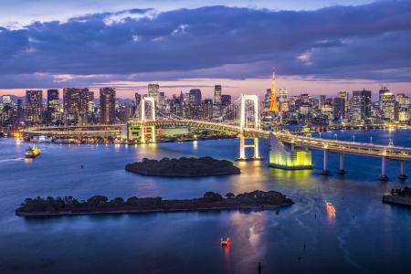 rainbow bridge: Tokyo Bay, Japan.