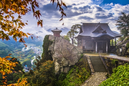 valley of the temples: Yamadera Mountain Temple in Yamagata, Japan.