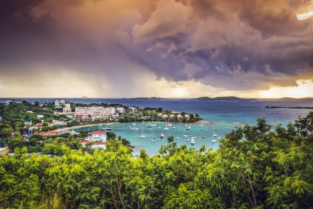 the virgin islands: Cruz Bay, St John, United States Virgin Islands. Stock Photo