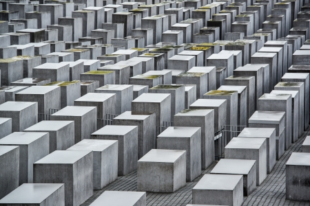 auschwitz memorial: Holocaust Memorial in Berlin, Germany. Editorial