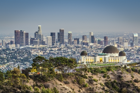 Los Angeles, California, USA at Griffith Park and Observatory. Editorial