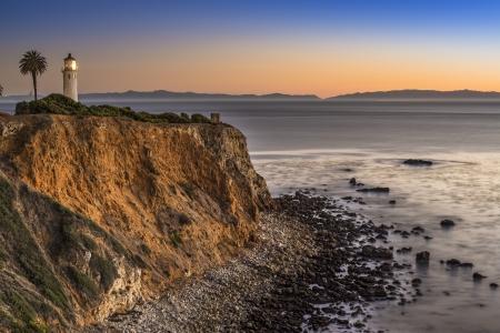 ランチョパロスベルデス、カリフォルニア州ロサンゼルスで Vicente をポイントします。 写真素材