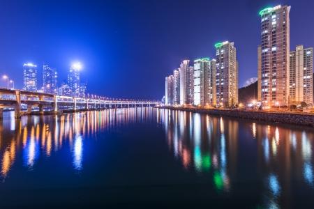 Busan, South Korea at Gwangan Bridge and photo