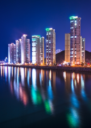 Busan, South Korea luxury high rise apartments. photo