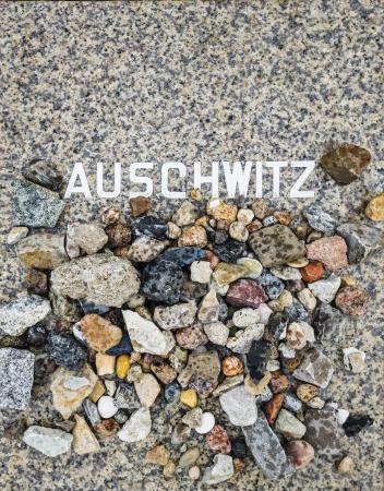 Auschwitz Memorial in Berlin, Germany at Weissensee Cemetery.