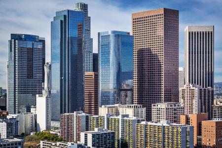 米国カリフォルニア州ロサンゼルス ダウンタウンの街並み。