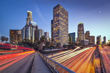 city scape: Los Angeles, California, USA downtown Cityscape Stock Photo