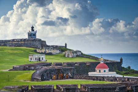 turret: San Juan, Puerto Rico historic Fort San Felipe Del Morro.