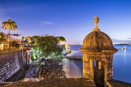 san juan: San Juan, Puerto Rico coast at Paseo de la Princesa.