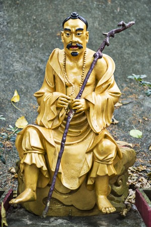 Buddha statue at Ten Thousand Buddhas Monastery in Hong Kong, China. photo