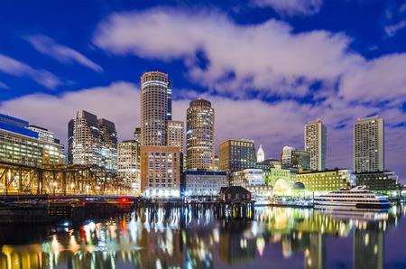 water scape: Boston, Massachusetts downtown city skyline.