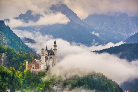 ludwig: Neschwanstein Castle in the Bavarian Alps of Germany.