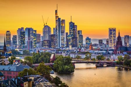 frankfurt: Frankfurt, Germany at sunset