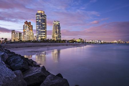 floridian: Miami, Florida at South Beach. Stock Photo