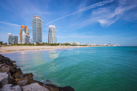 Miami, Florida at South Beach. Imagens