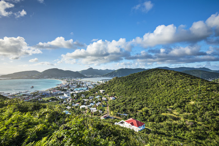 sint: Philipsburg, Sint Maarten, Netherlands Antilles Stock Photo
