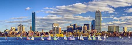 ボストン、マサチューセッツ州のスカイライン パノラマ