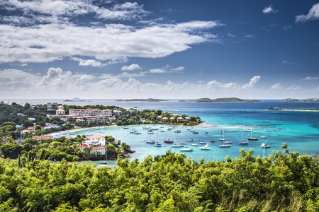 st  john: Cruz Bay, St John, United States Virgin Islands. Stock Photo